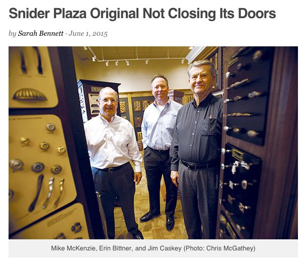 Snider Plaza Original Not Closing Its Doors